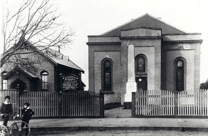 St Andrews Presbyterian Church & Sabbath (Sunday) school prior to 1913.